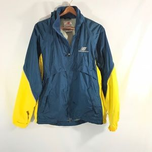 Men's new balance Light rain jacket blue & yellow